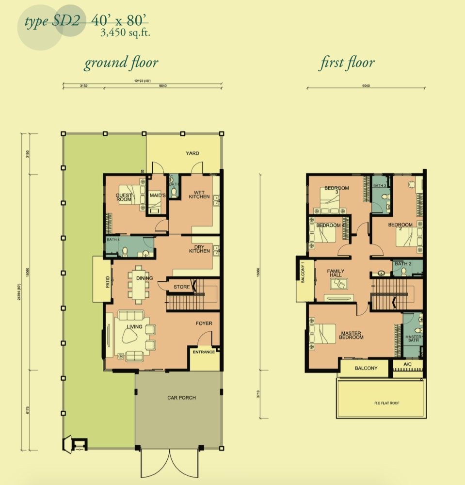 Canary Garden Clermont - Type SD2 Floor Plan