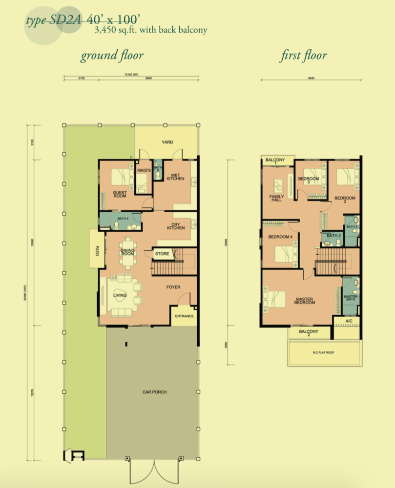 Canary Garden Clermont - Type SD2A Floor Plan