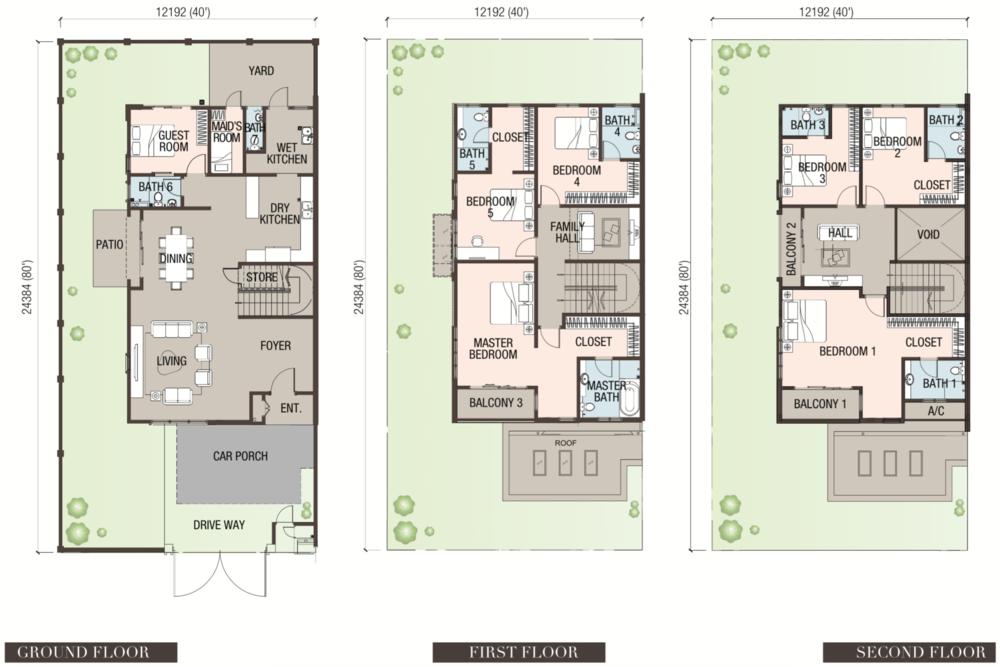 Canary Garden Pervenche - Type SD3 Floor Plan