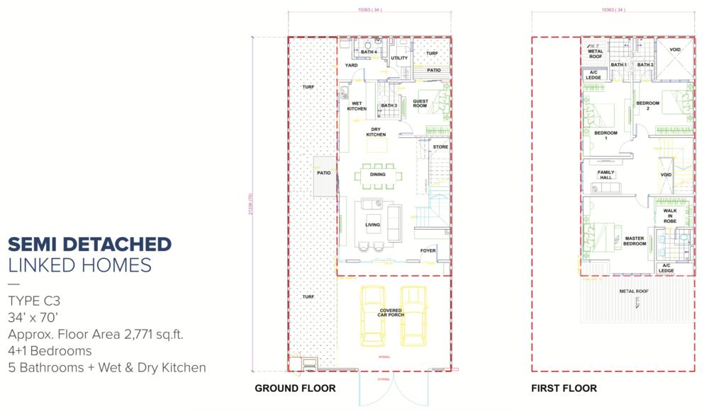 Canary Garden Ridgewood - Type C3 Floor Plan