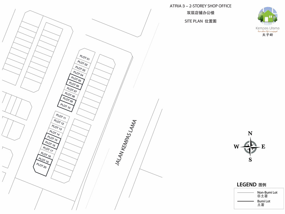 Site Plan of Atria 3