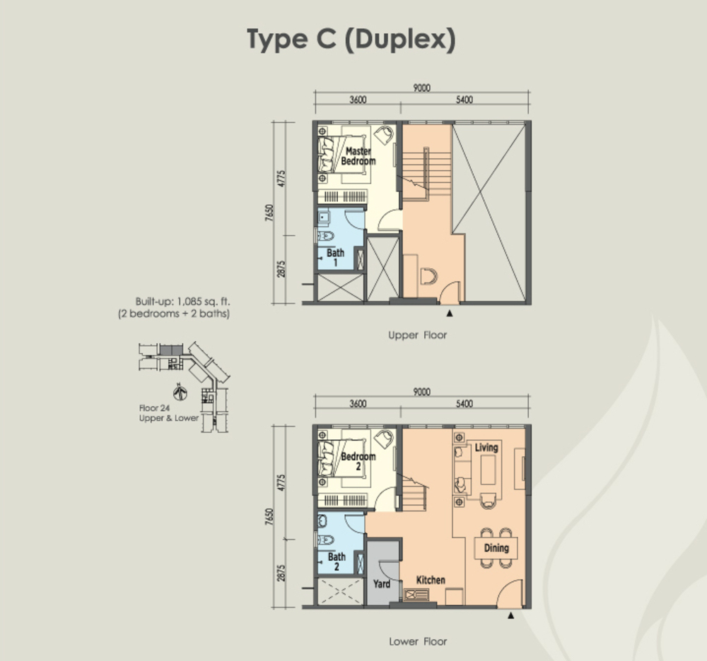 East Parc @ Menjalara Type C Floor Plan