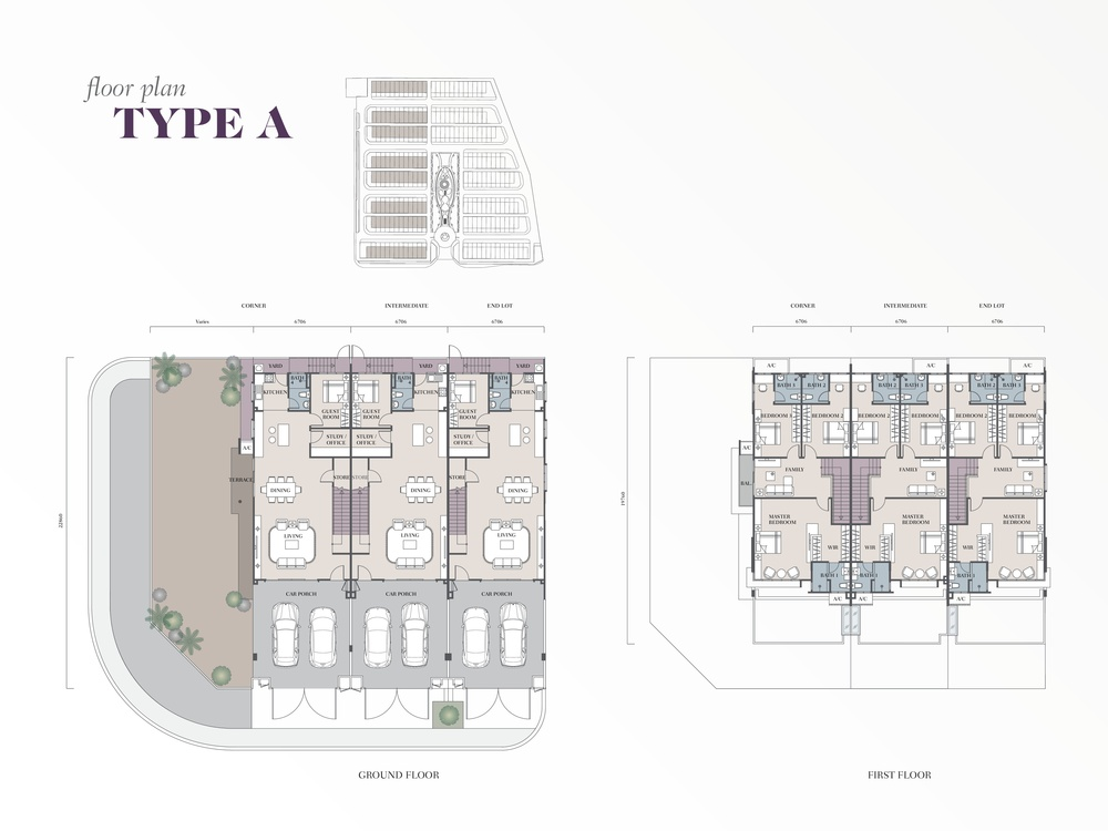 Semanja Semanja Park Terraces Type A Floor Plan
