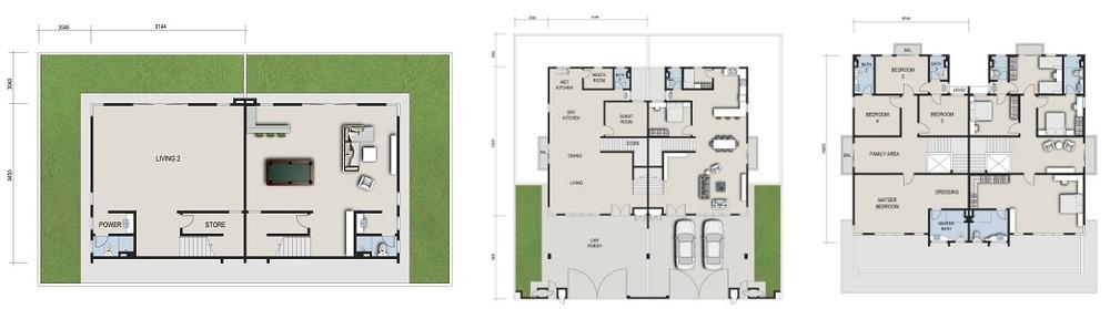 GreensVille 3 Storey Semi-D Floor Plan
