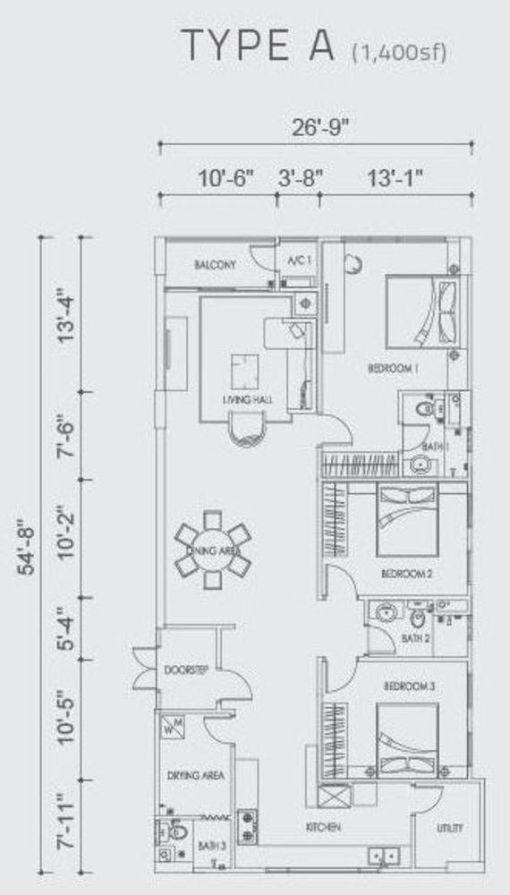 Altus Type A Floor Plan