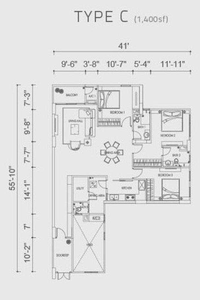 Altus Type C Floor Plan