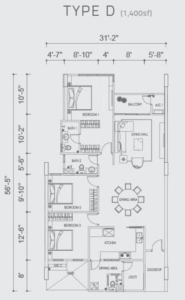 Altus Type D Floor Plan