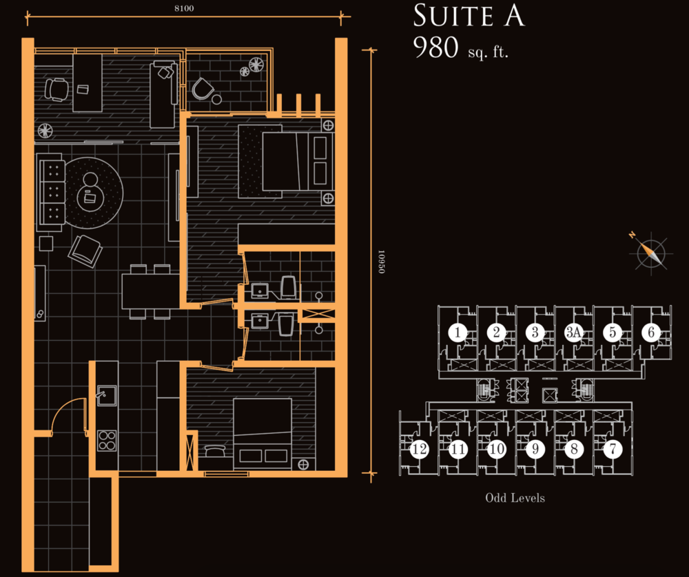 Beacon Executive Suites Suite A Floor Plan