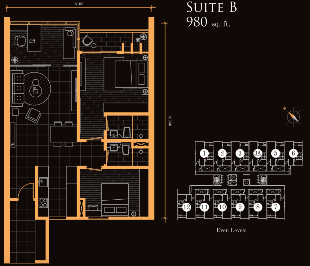 Beacon Executive Suites Suite B Floor Plan