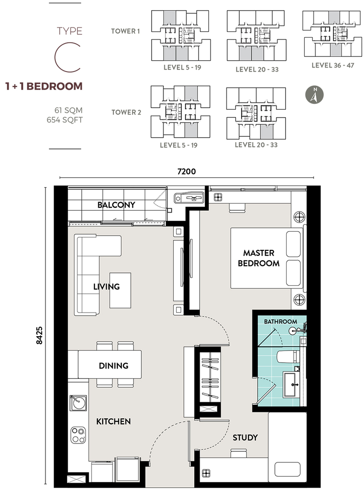 Bukit Bintang City Centre Lucentia Residences - Type C Floor Plan