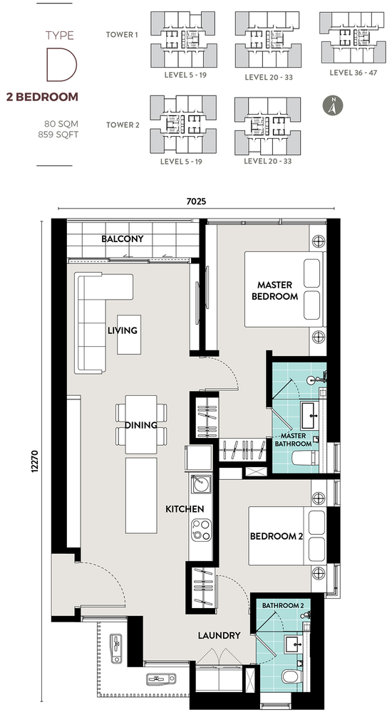 Bukit Bintang City Centre Lucentia Residences - Type D Floor Plan