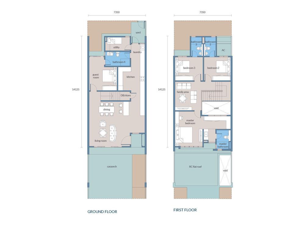 Tenang Type A1 Floor Plan