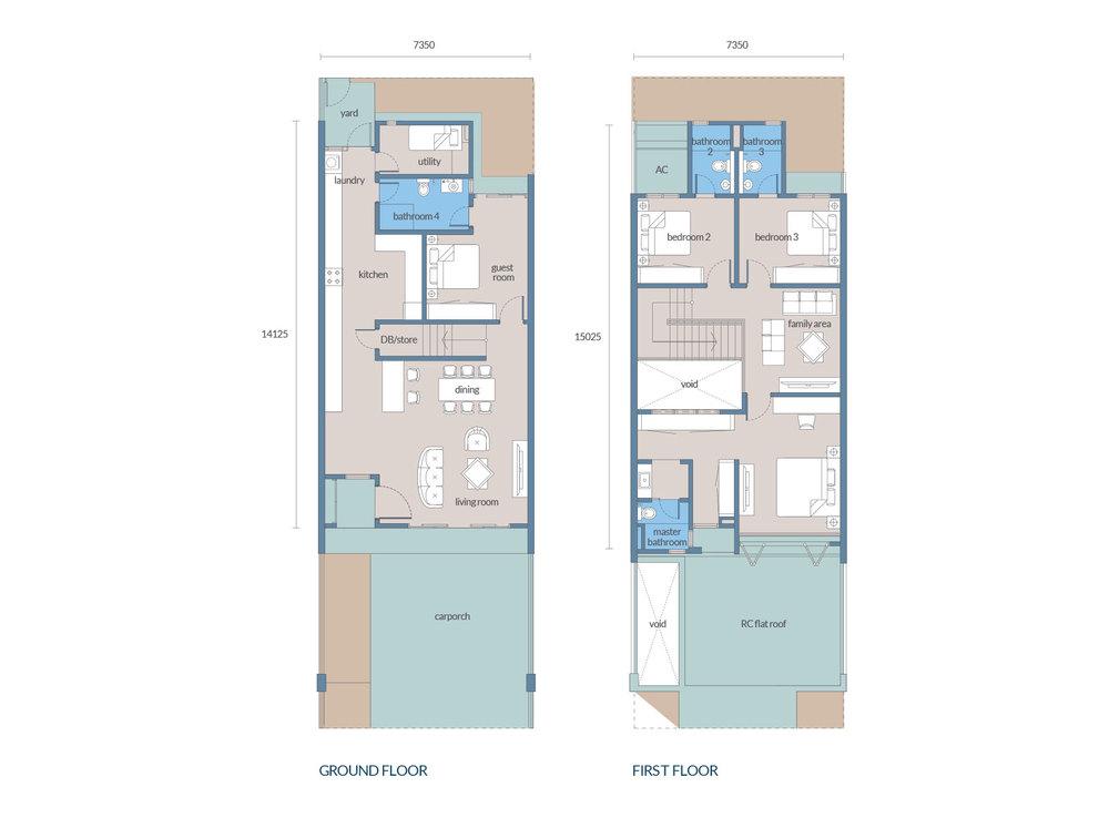 Tenang Type A2 Floor Plan