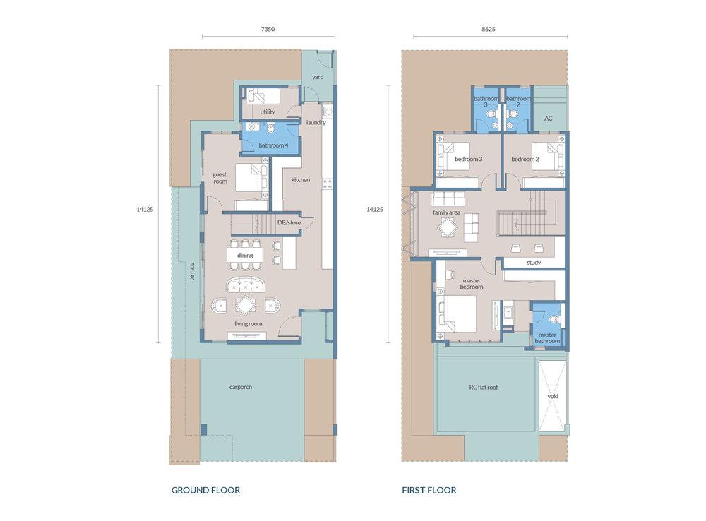 Tenang Type D1/C1 Floor Plan
