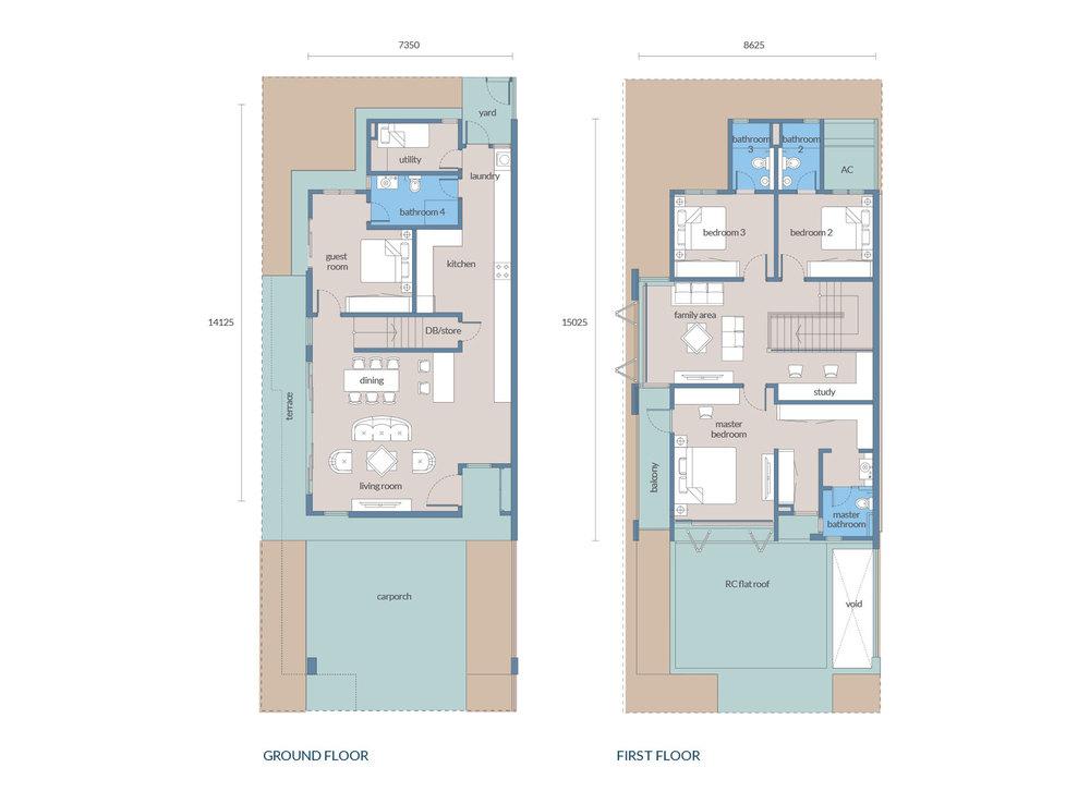 Tenang Type D2/C2 Floor Plan