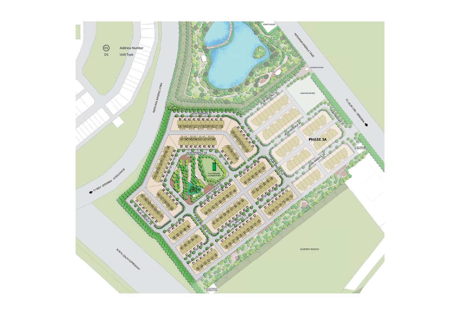 Site Plan of Tenang