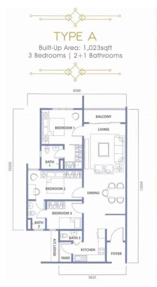 The Havre Type A Floor Plan