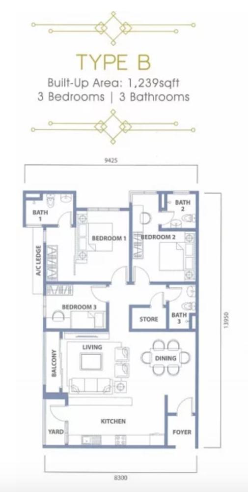 The Havre Type B Floor Plan
