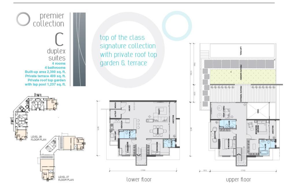 The Signature Type C Duplex Suite Floor Plan