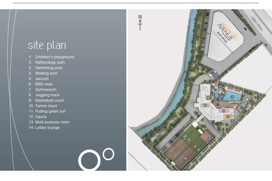 Site Plan of The Signature