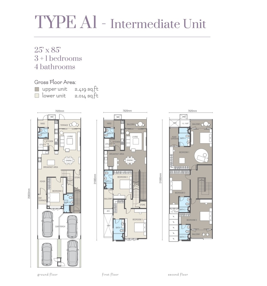 Ridgefield Residences @ Tropicana Heights Type A1 (Lower) Floor Plan