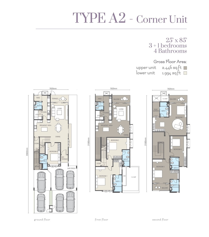 Ridgefield Residences @ Tropicana Heights Type A2 (Upper) Floor Plan