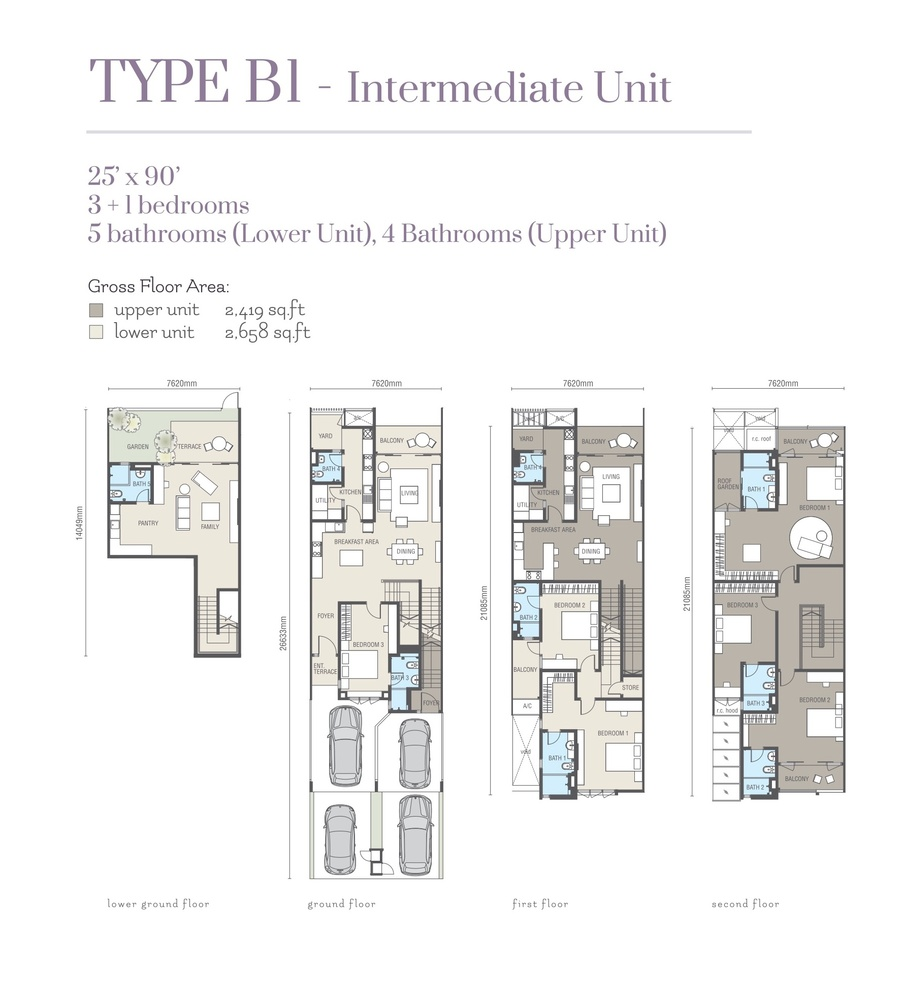 Ridgefield Residences @ Tropicana Heights Type B1 (Lower) Floor Plan