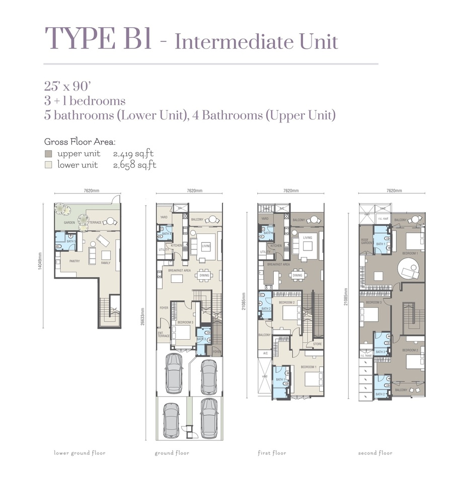 Ridgefield Residences @ Tropicana Heights Type B1 (Upper) Floor Plan