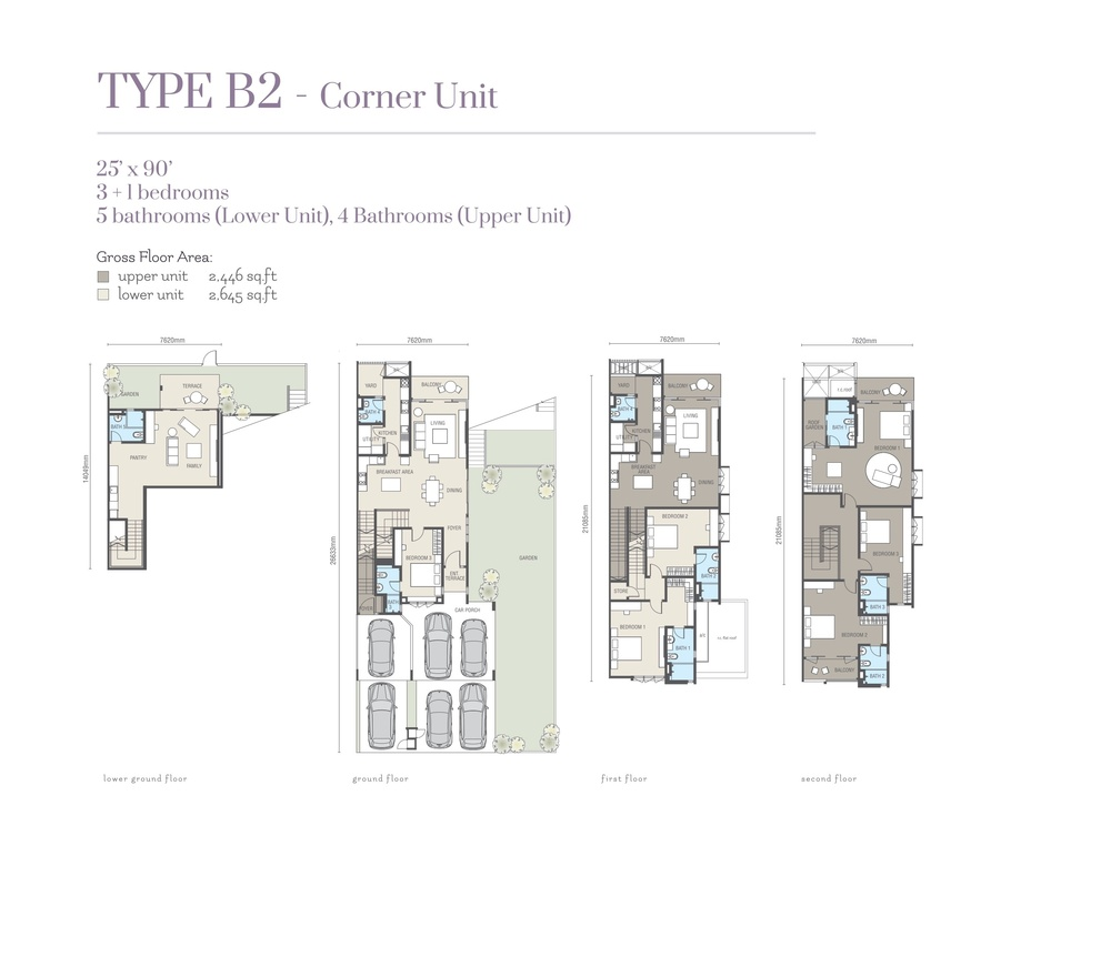 Ridgefield Residences @ Tropicana Heights Type B2 (Lower) Floor Plan
