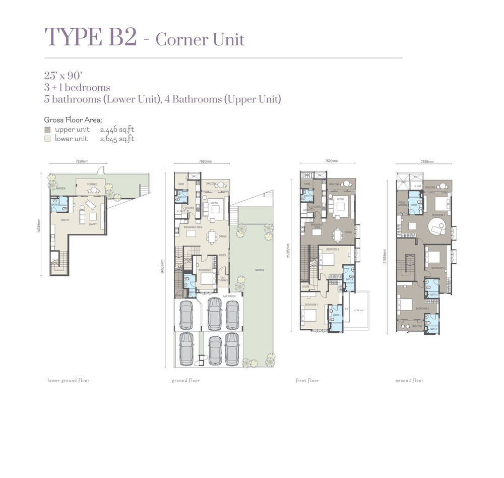 Ridgefield Residences @ Tropicana Heights Type B2 (Upper) Floor Plan