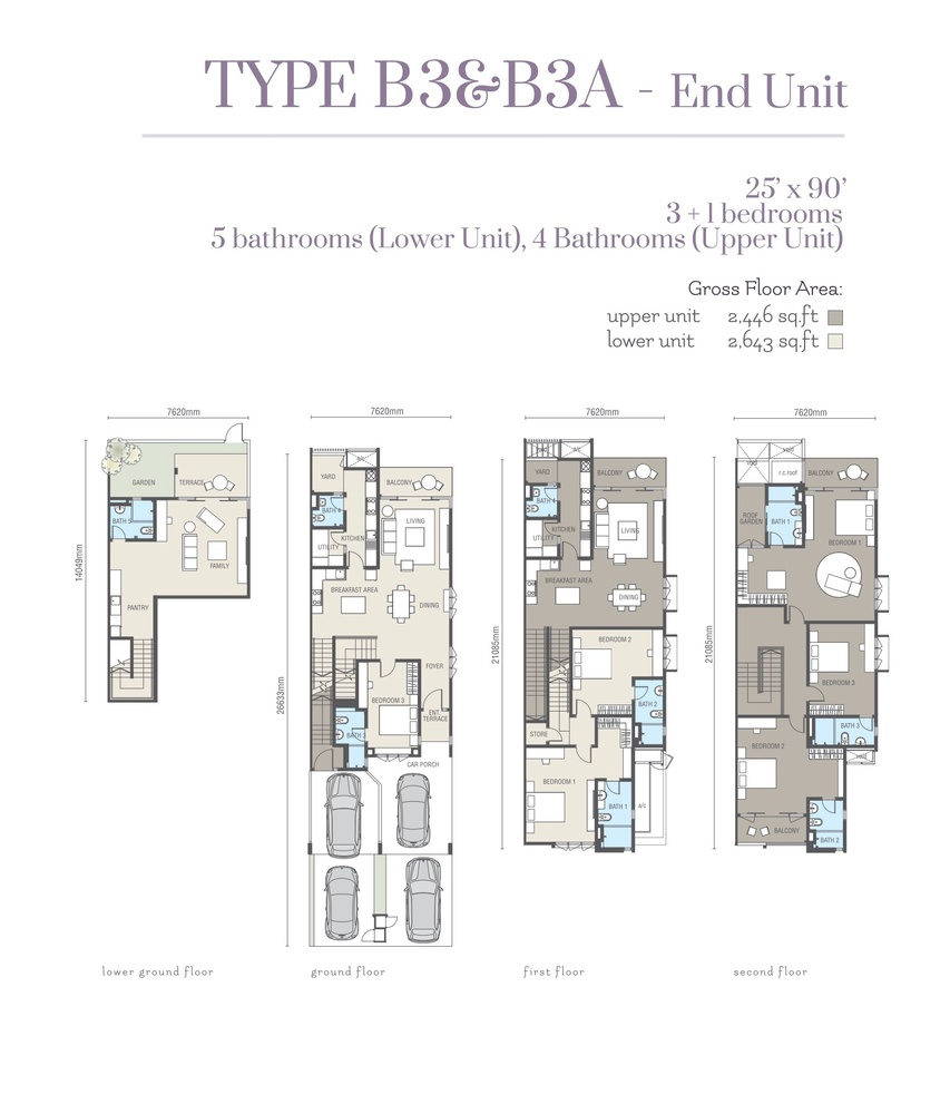 Ridgefield Residences @ Tropicana Heights Type B3 & B3A (Upper) Floor Plan