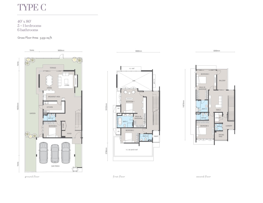 Ridgefield Residences @ Tropicana Heights Type C Floor Plan