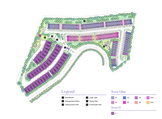 Site Plan of Ridgefield Residences @ Tropicana Heights