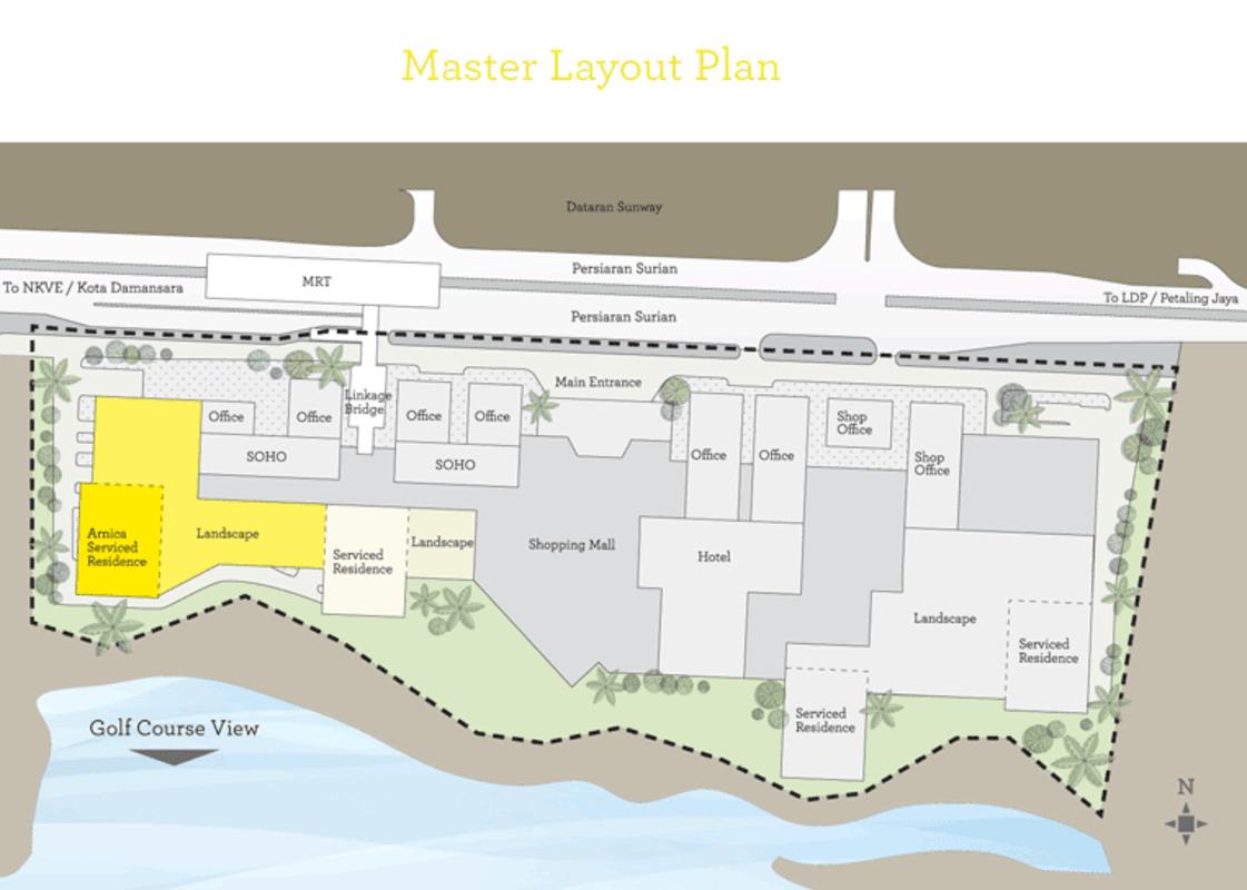 Master Plan of Dianthus Serviced Residences @ Tropicana Gardens