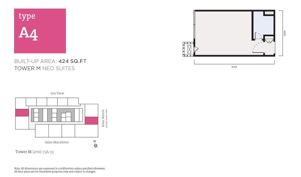 Tropicana 218 Macalister Neo Suites - Type A4 Floor Plan