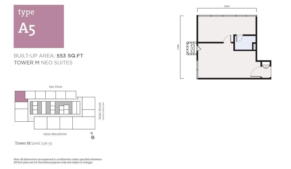 Tropicana 218 Macalister Neo Suites - Type A5 Floor Plan