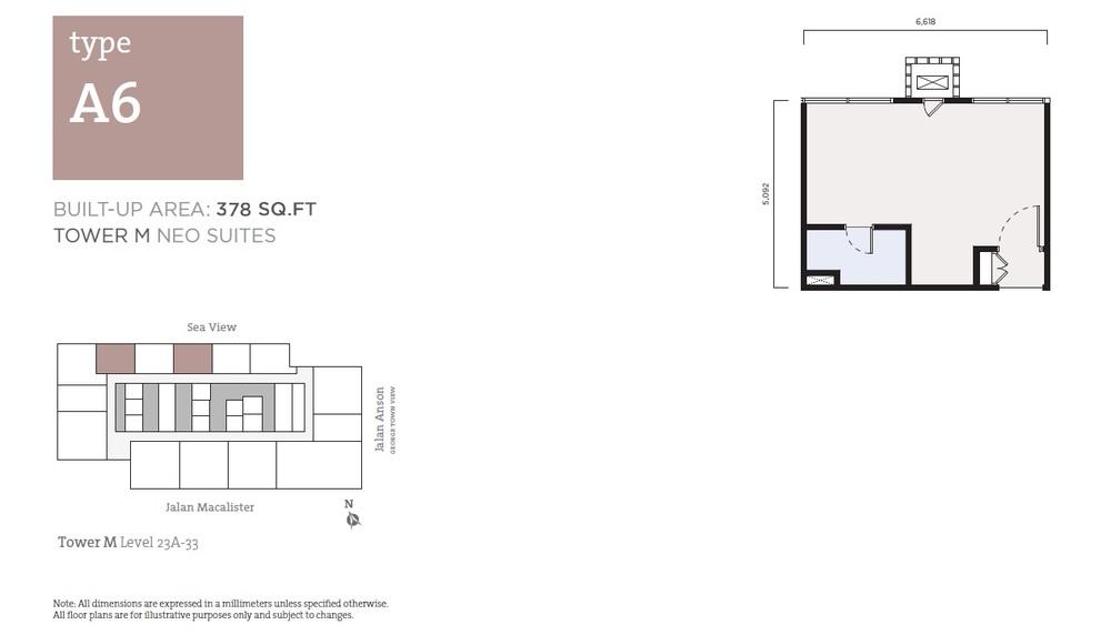 Tropicana 218 Macalister Neo Suites - Type A6 Floor Plan