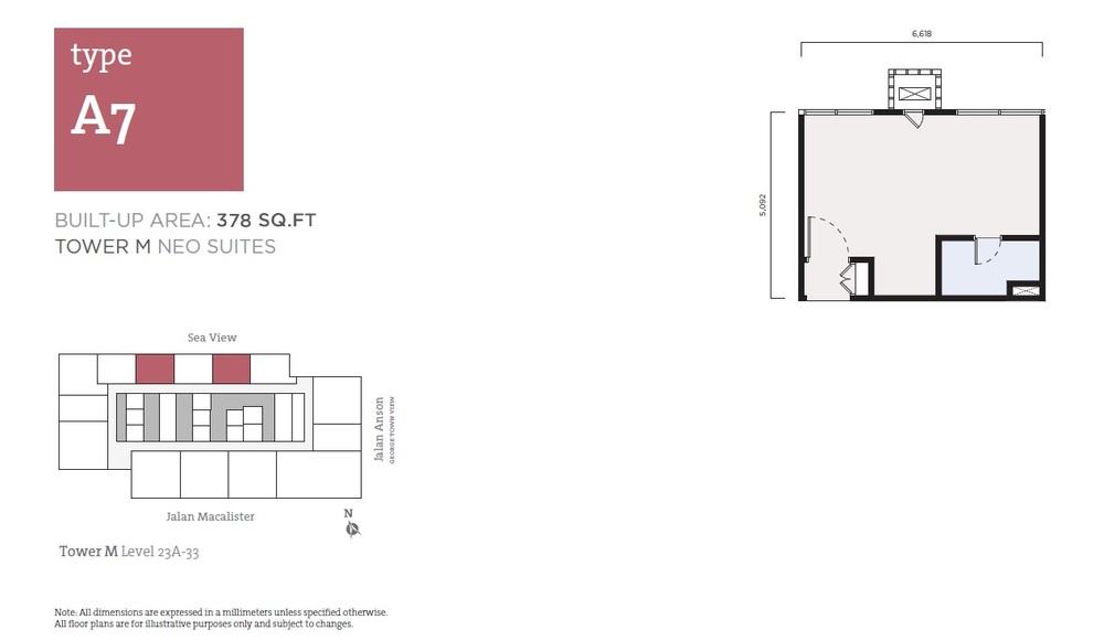 Tropicana 218 Macalister Neo Suites - Type A7 Floor Plan