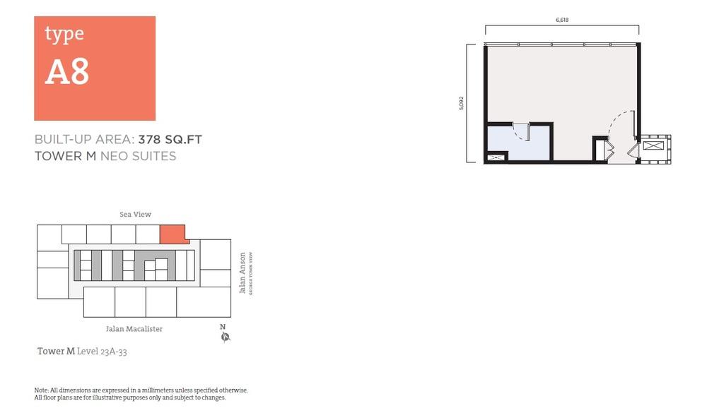 Tropicana 218 Macalister Neo Suites - Type A8 Floor Plan