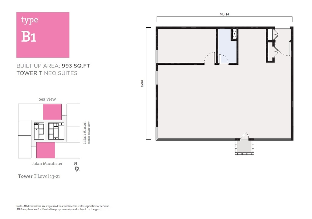 Tropicana 218 Macalister Neo Suites - Type B1 Floor Plan
