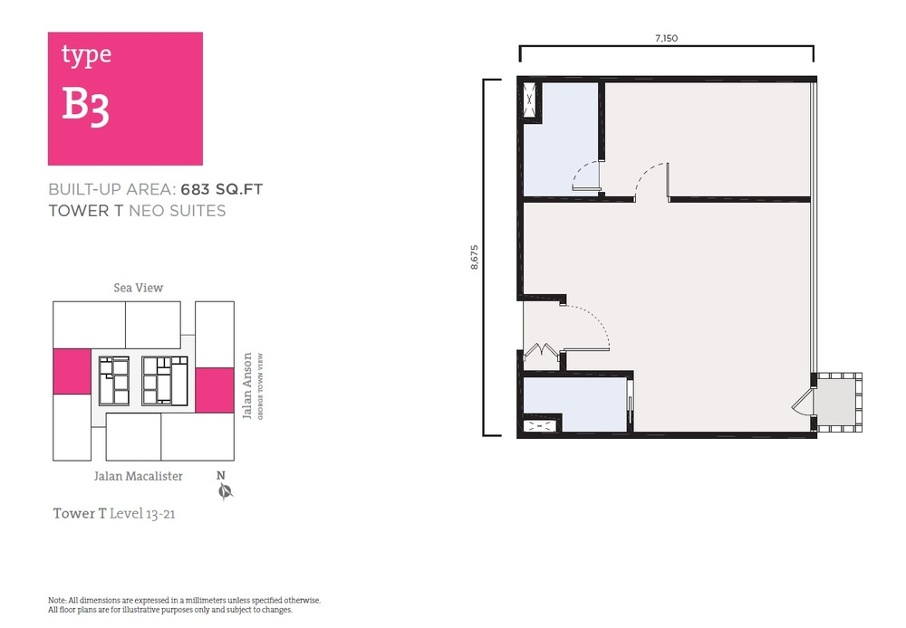 Tropicana 218 Macalister Neo Suites - Type B3 Floor Plan