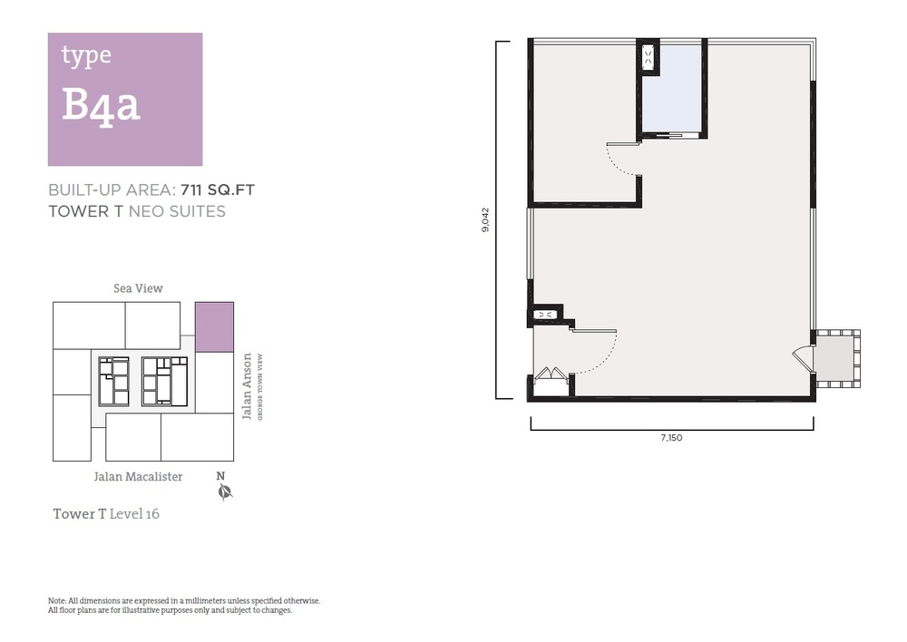 Tropicana 218 Macalister Neo Suites - Type B4a Floor Plan