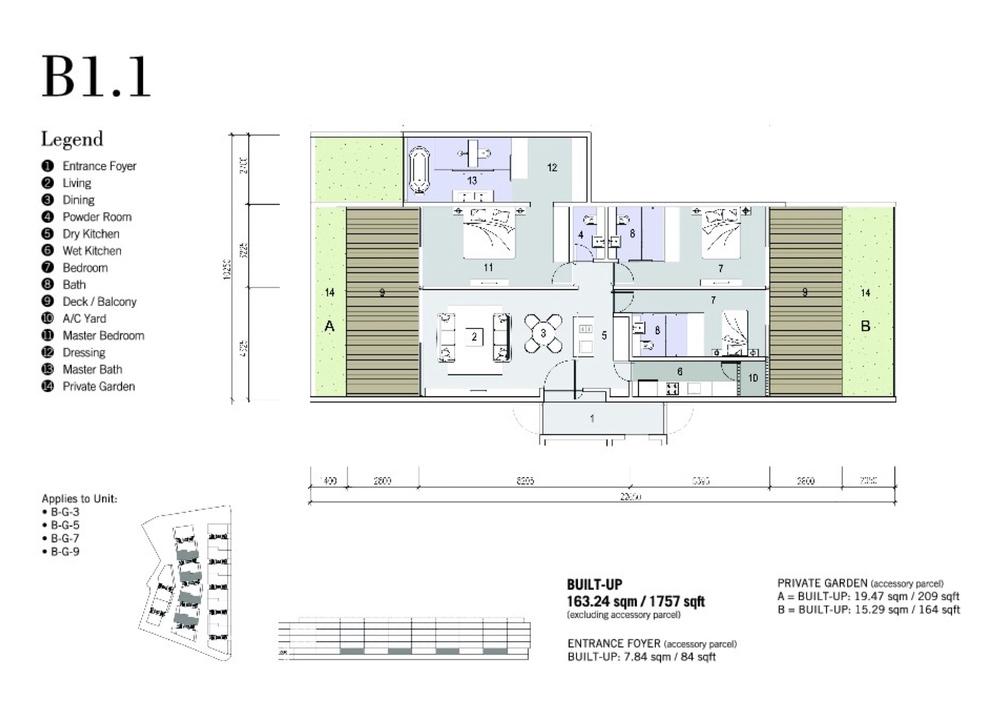 Shorefront Type B1.1 Floor Plan