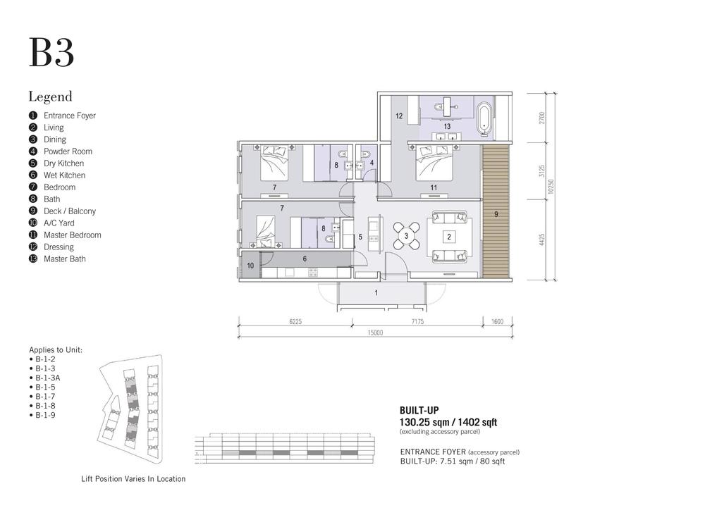 Shorefront Type B3 Floor Plan