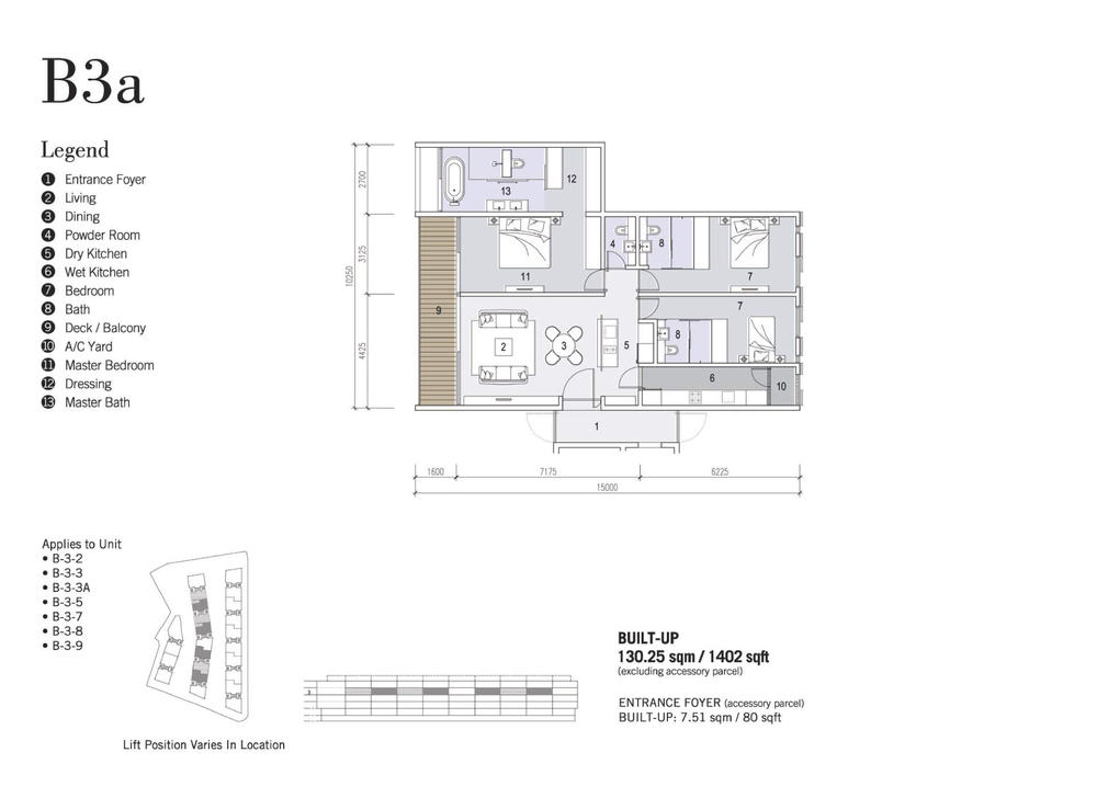 Shorefront Type B3a Floor Plan