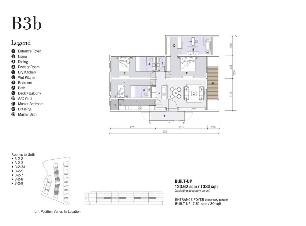 Shorefront Type B3b Floor Plan