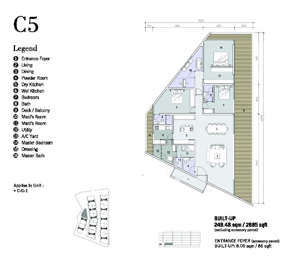 Shorefront Type C5 Floor Plan