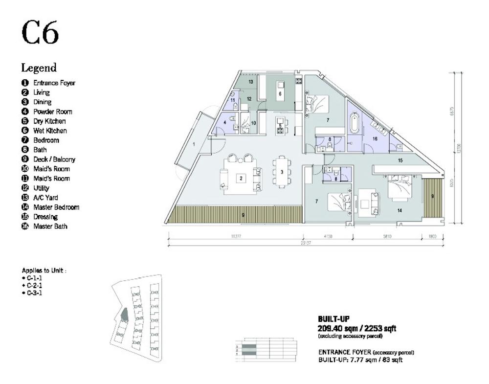 Shorefront Type C6 Floor Plan