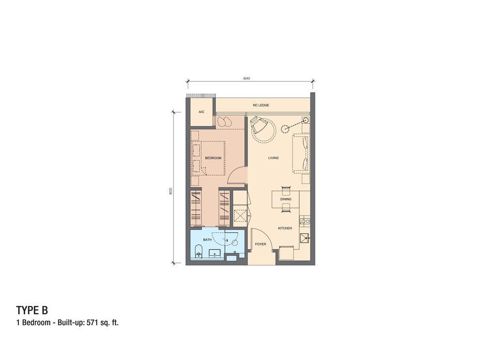 Grand Medini Type B Floor Plan