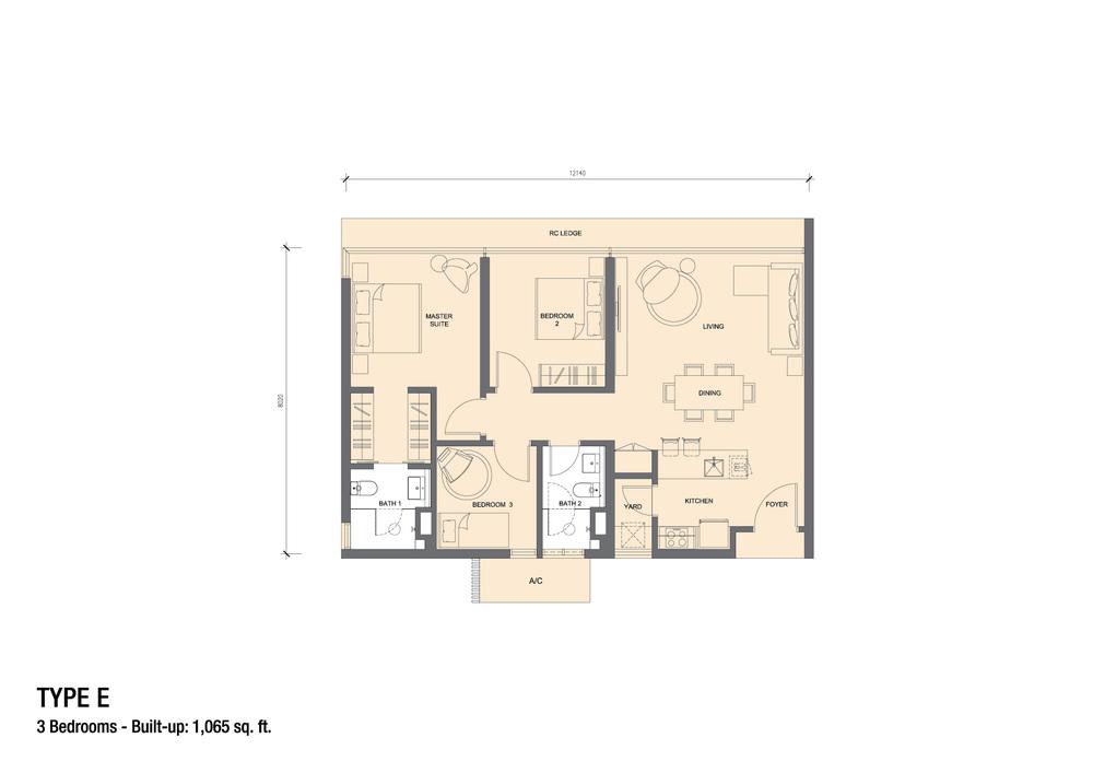 Grand Medini Type E Floor Plan